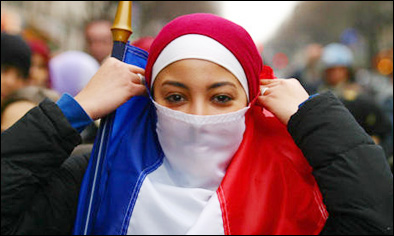 """liberté égalité fraternité and the burqa The burqa vs republican values the total size of the muslim population is increasing all over the europe that is one of the reasons why the debate on the wearing of the burqa in public places, such as in the social services, hospitals or the principles of the french revolution, """"liberté, egalité and fraternité"""", stand."""