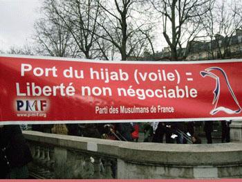 Manif pour le port du voile en france francaisdefrance - Loi interdisant le port du voile en france ...