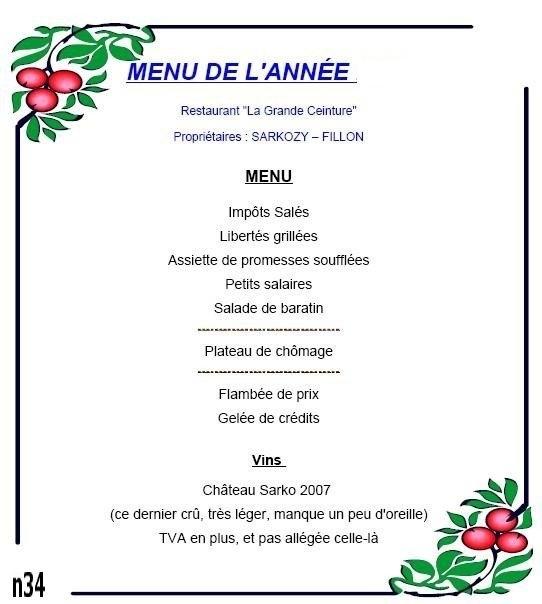 Bonne ann e qu il a dit le mec francaisdefrance 39 s blog - Idee menu invitation amis ...