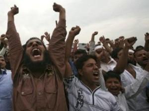 Muslim protesting