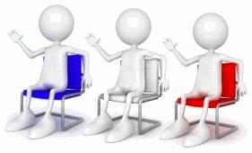 Non au mariage gay! Patriotes assis sur des chaises.